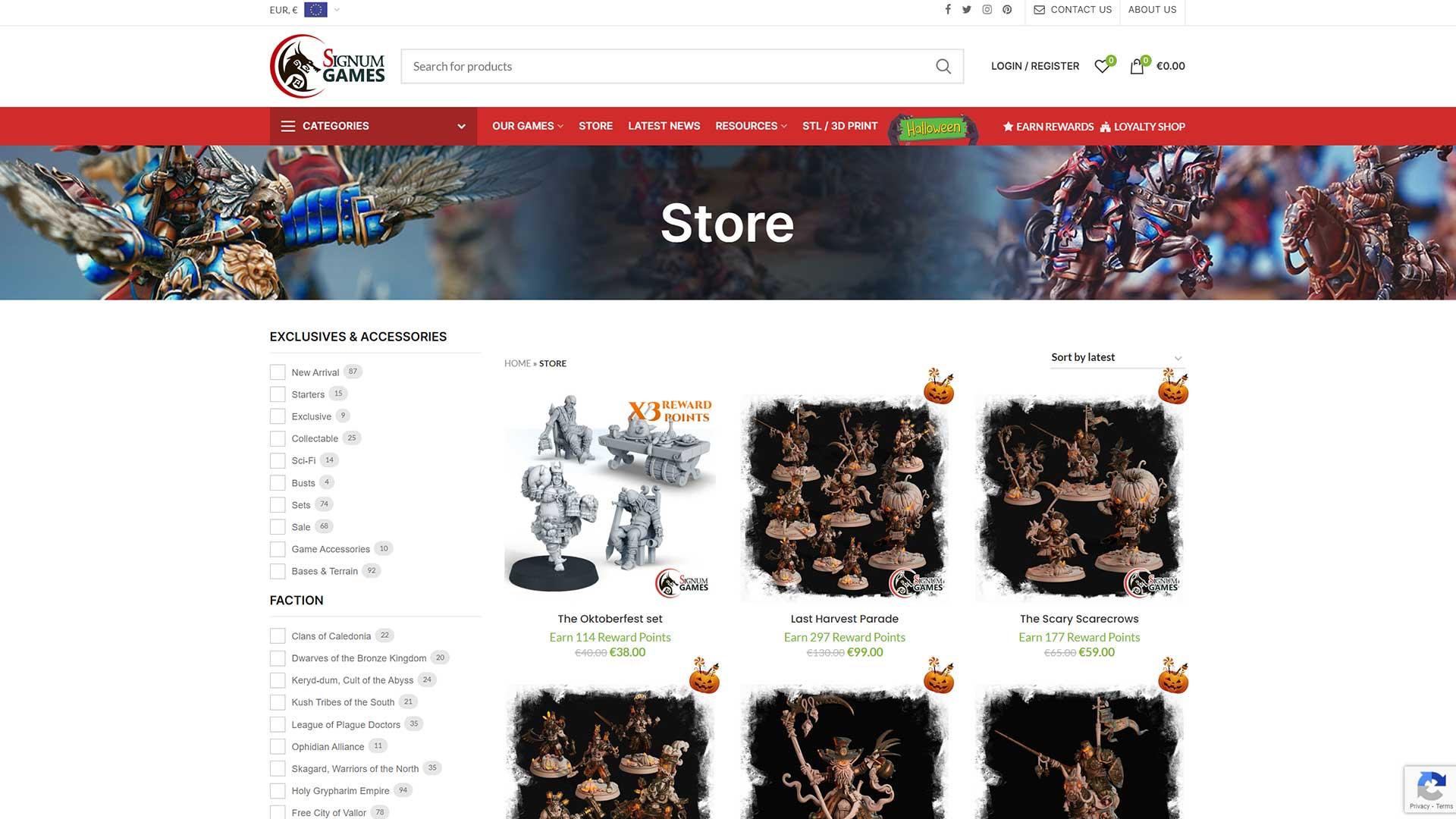 Signu-Games-Shop-Page